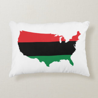 African American _ Red, Black & Green Colors Decorative Pillow
