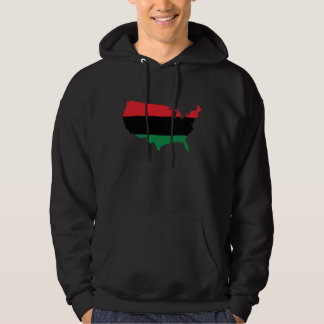 African American _ Red, Black & Green Colors Hoodie