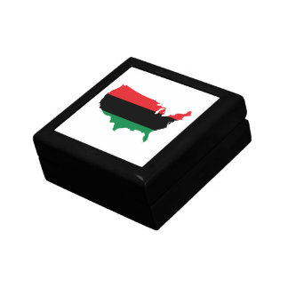 African American _ Red, Black & Green Colors Jewelry Box