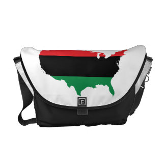 African American _ Red, Black & Green Colors Messenger Bag
