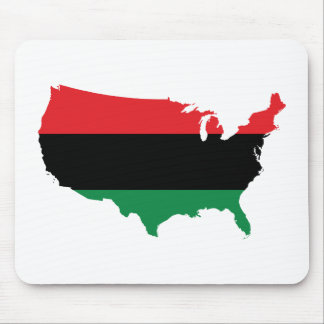 African American _ Red, Black & Green Colors Mouse Pad