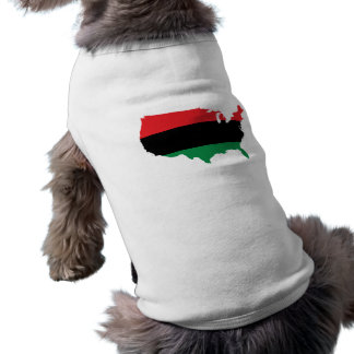 African American _ Red, Black & Green Colors Pet T Shirt