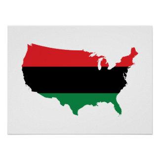 African American _ Red, Black & Green Colors Poster