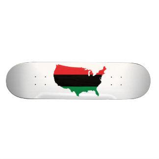 African American _ Red, Black & Green Colors Skateboard
