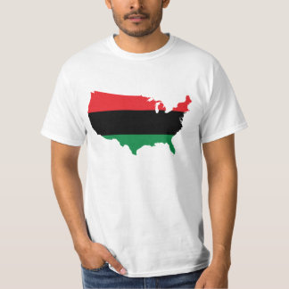 African American _ Red, Black & Green Colors T-Shirt