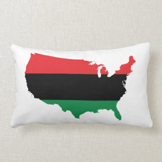 African American _ Red, Black & Green Colors Throw Pillow