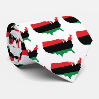 African American _ Red, Black & Green Colors Tie