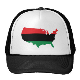 African American _ Red, Black & Green Colors Trucker Hat