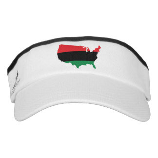 African American _ Red, Black & Green Colors Visor
