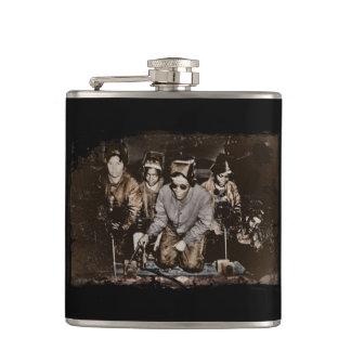African American Rosie Riveters WWII Hip Flask