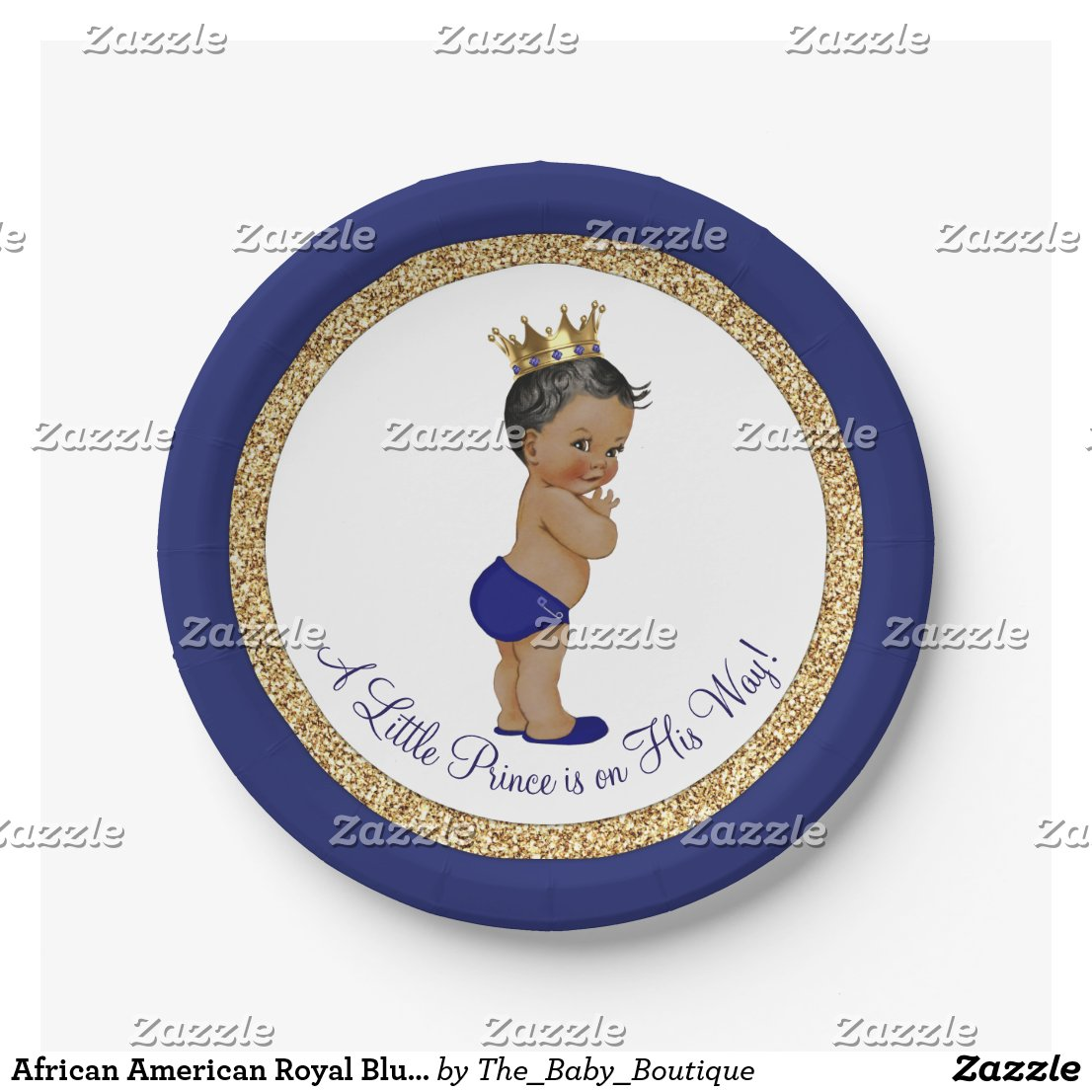 African American Royal Blue Prince Baby Shower