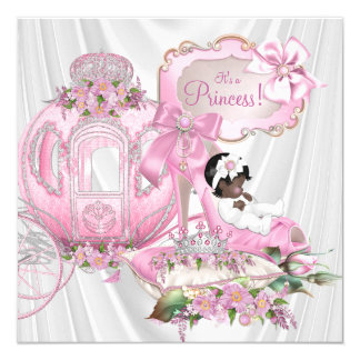 african american royal princess baby shower card