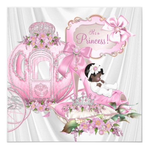 african american royal princess baby shower invitation zazzle