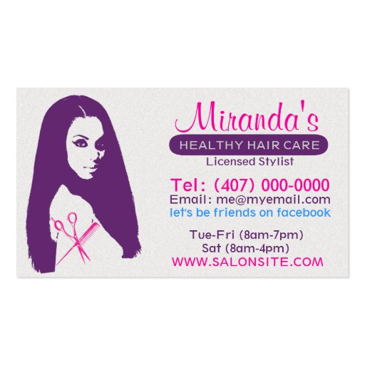 African American Salon Business/Appointment Cards Business Cards