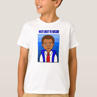 African American Schoolboy Most Likely to Succeed T-Shirt