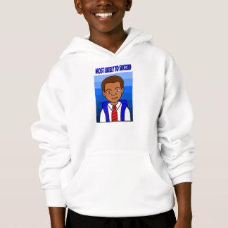 African American Schoolboy with Backpack Hoodie