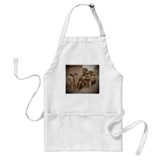 African American Servicemen Clearing Buildings Adult Apron