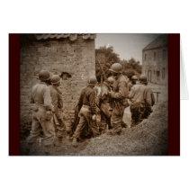 African American Servicemen Clearing Buildings Card
