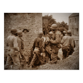 African American Servicemen Clearing Buildings Postcard