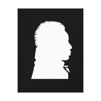 African American Silhouette rightt facing Canvas Print