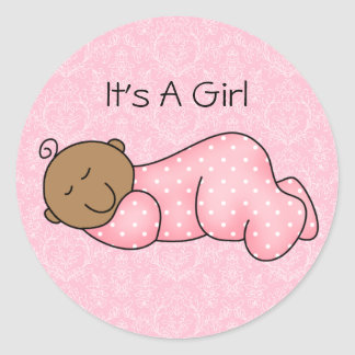 African American Sleeping Baby Sticker