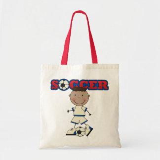 African American Soccer Boy Canvas Bag
