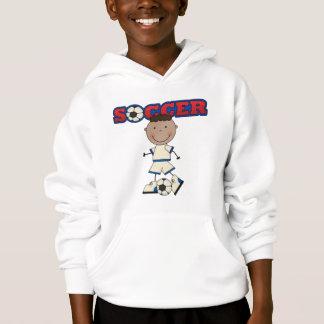 African American Soccer Boy Hoodie
