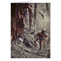 African American Soldiers on Guam WWII Card