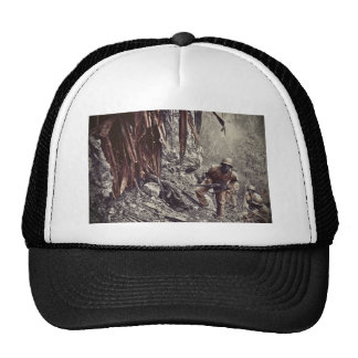 African American Soldiers on Guam WWII Mesh Hats