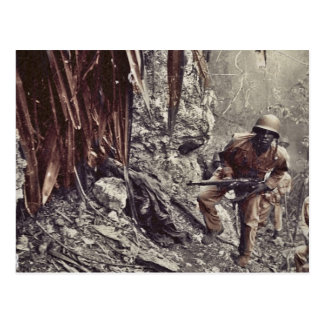 African American Soldiers on Guam WWII Postcard