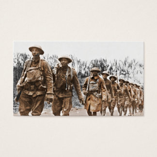 African American Soldiers WWI Business Card