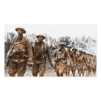 African American Soldiers WWI Double-Sided Standard Business Cards (Pack Of 100)