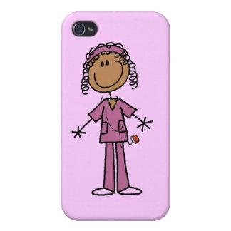 African American Stick Figure Nurse iPhone 4 Case