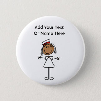 African American Stick Figure t-shirts and Gifts Button
