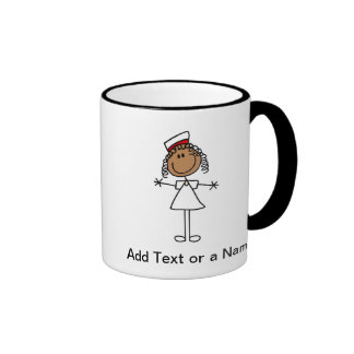 African American Stick Figure t-shirts and Gifts Ringer Coffee Mug