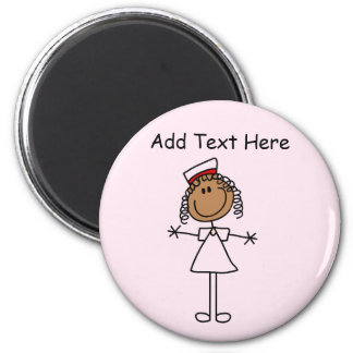 African American Stick Figure Tshirts and Gifts 2 Inch Round Magnet