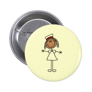 African American Stick Figure Tshirts and Gifts Button