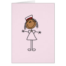 African American Stick Figure Tshirts and Gifts Card