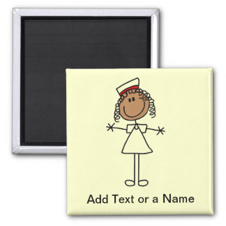 African American Stick Figure Tshirts and Gifts 2 Inch Square Magnet