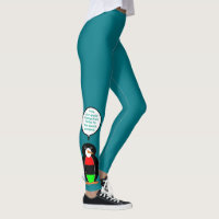 African American Talking Penguin Leggings