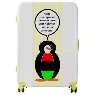 African American Talking Penguin