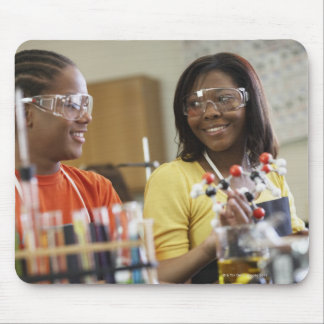 African American teenagers in science class Mouse Pad