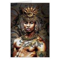 African American Tribal Prince Card