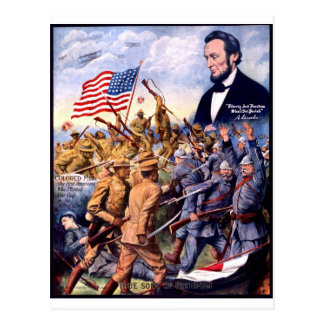 African American True Sons of Freedom Heroes WWI Postcard