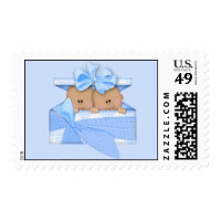 African American Twin Boys Postage Stamp