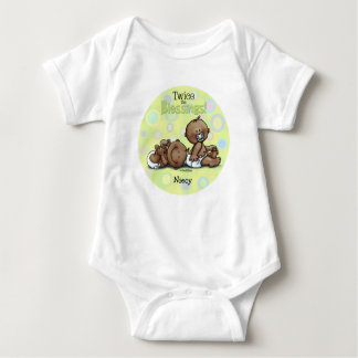 African American Twins Twice Blessed Baby Bodysuit