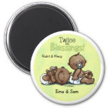 African American Twins Twice Blessed 2 Inch Round Magnet