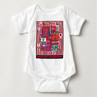 African American - Village life - Aftrican Art Baby Bodysuit