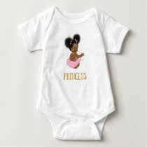 African American Vintage Baby Girl One Piece Baby Bodysuit