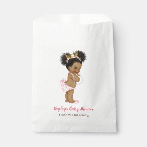 African American Vintage Princess Baby Shower Favor Bag